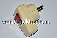 Вилка электрическая евро с кнопкой Lxl 127
