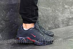 Кроссовки Air Max Tn темно-синие с красным  зима  , код6463, фото 2