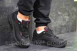 Кроссовки Salomon, черные с красным, термо, код6472, фото 2