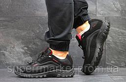 Кроссовки Salomon, черные с красным, термо, код6472, фото 3