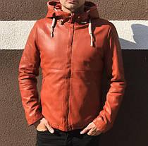 Демисезонная мужская куртка коричневого цвета, фото 3