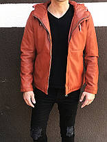 Демисезонная мужская куртка коричневого цвета, фото 2