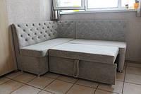 Куточок м'який кухонний зі спальним місцем і ящиком (Світло-сірий), фото 1