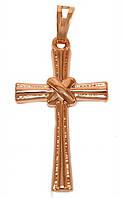 Крестик фирмы TSATSA, позолота с красным оттенком. Высота крестика: 3,5 см. Ширина 17 мм