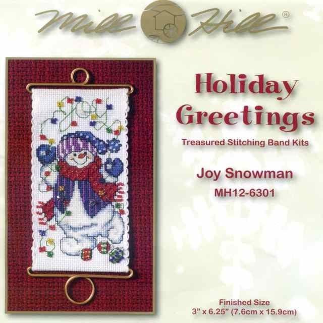 Набор для вышивки MillHill Joy Snowman