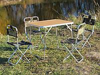 """Складной комплект мебели """"Кемпинг O1+4"""" (стол с чехлом + 4 стула)"""