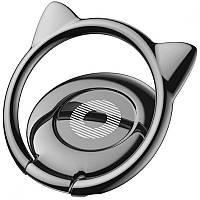 Кольцо-держатель Baseus Cat Ear для смартфона, Black