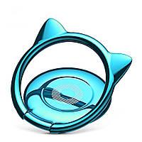 Кольцо-держатель Baseus Cat Ear для смартфона, Blue