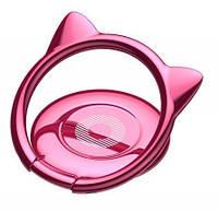 Кольцо-держатель Baseus Cat Ear для смартфона, Pink (SUMA-04)