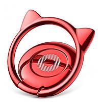 Кольцо-держатель Baseus Cat Ear для смартфона, Red