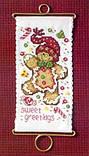 Набор для вышивки Mill Hill Sweet Greetings Gingerbread, фото 2