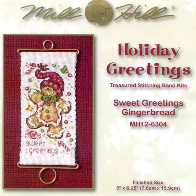 Набір для вишивки Mill Hill Sweet Greetings Gingerbread