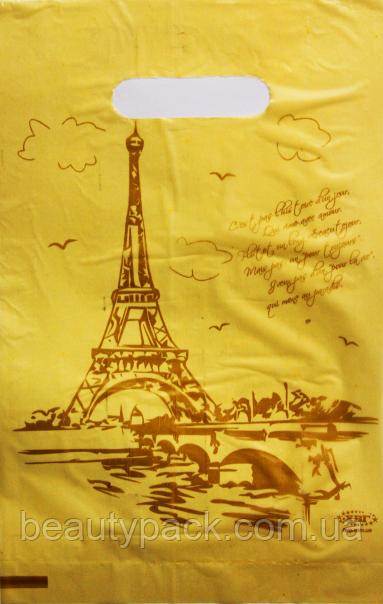 Пакет поліетиленовий банан Париж 20 х30 см / уп-100шт