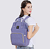 Рюкзак-сумка для мам Оригинал Sunveno Large Умный органайзер Стильный дизайн Фиолетовый, фото 5