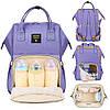 Рюкзак-сумка для мам Оригинал Sunveno Large Умный органайзер Стильный дизайн Фиолетовый, фото 7