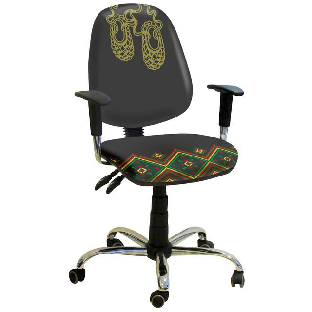 Кресло Бридж Хром Украинский Стиль 4. Технические характеристики: 65х75х110-119h.