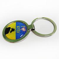 """Брелок для ключей металлический сувенирный """"Я люблю Киев"""""""