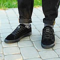 Мужские кроссовки Puma Suede Triple Black Classic+ топ реплика 4822af417ade0