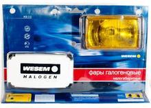 Фари дальнього світла 138х78х60 мм Wesem HM1.08331 галогенні жовті 2 шт