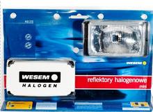 Фари дальнього світла 138х78х60 мм Wesem HM1.08131 галогенні білі 2 шт