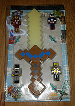 Золотой Меч Майнкрафт Свет Звук. Меч Minecraft, фото 2