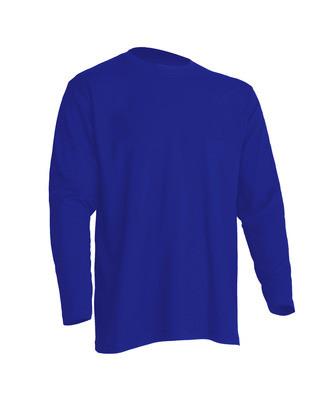Мужская футболка с длинным рукавом, синяя