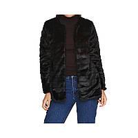 Женская шуба из искусственного меха черная размер 42 (XL) СС-8457-10