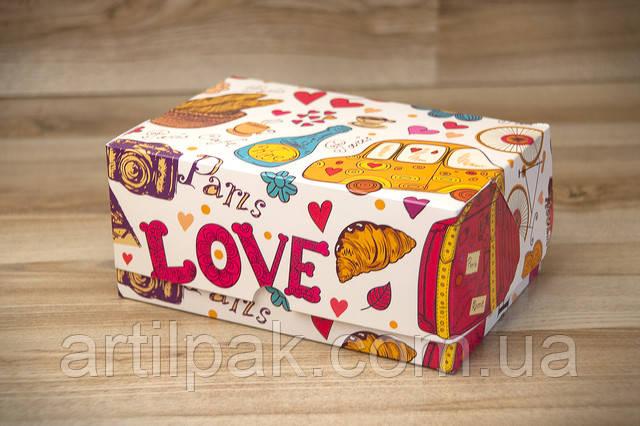 коробка для кондитерських виробів з картону фото