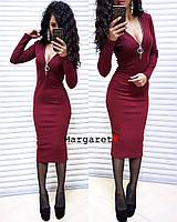 Женское трикотажное платье-миди, фото 1