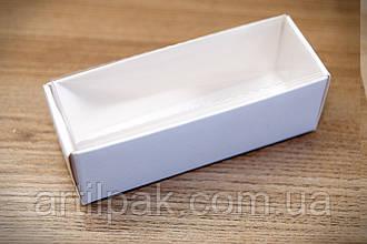 Коробка для цукерок 86*30*30 з прозорою кришкою БІЛА