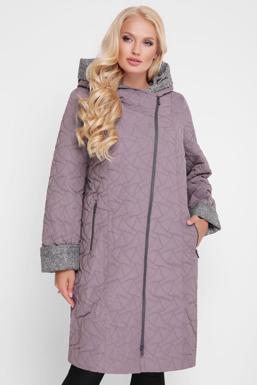 Демисезонное пальто Косуха серое