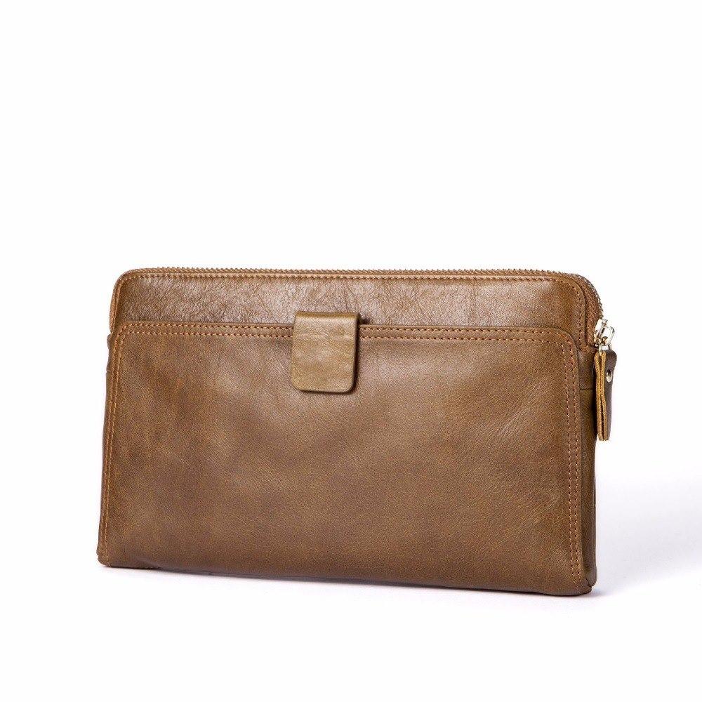 ddb211d2e215 Сумка клатч кошелек мужской из натуральной кожи (светло-коричневый) -  Интернет-магазин
