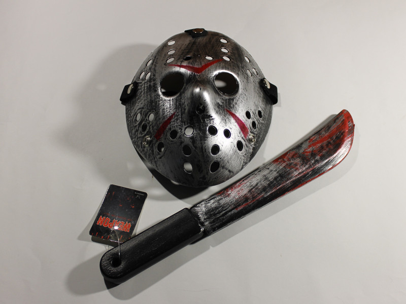 Набор Джейсона Пятница 13 маска серая с мачете