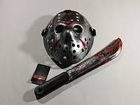 Набор Джейсона Пятница 13 маска серая с мачете, фото 1