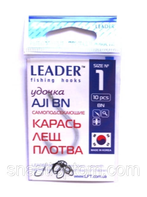 Крючки Leader AJI BN №1, 10шт