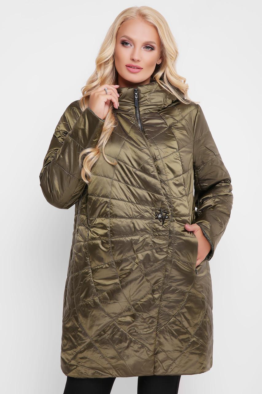 Куртка демисезонная женская Паутинка бронза