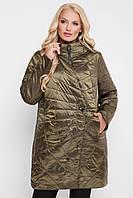 Куртка демисезонная женская Паутинка бронза, фото 1
