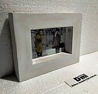 Деревянная фоторамка 10х15см,  профиль 40х40мм, белая, венге, чёрная, орех., фото 1