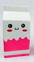 "Антистресс игрушка Сквиши ""Пакет Молока"" (Squishy), белый"