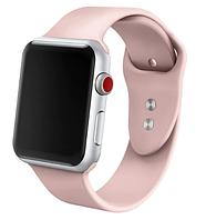 Ремешок силиконовый для Apple Watch 42 / 44 mm. Pink Sand, пудровый, нежно-розовый