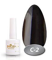 Гель-лак NICE COOL №С02,  классический черный