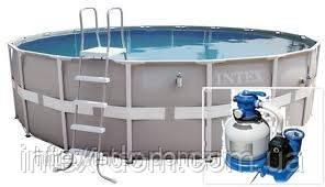 Купить в украине каркасные бассейны Intex 54452 (488х122 см. ) полная комплектация+песочная помпа intex 56674