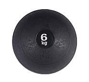 Слэмбол (медицинский мяч) для кроссфита SportVida Medicine Ball 6 кг Black