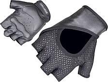 Перчатки атлетические кожанные для фитнеса, тренажерного зала и тренировок SportVida (размер L), черные