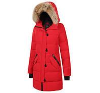 Женская зимняя парка Canada Goose Lorette Parka Red зимняя куртка пуховик Кнада Гус красная 2018 L