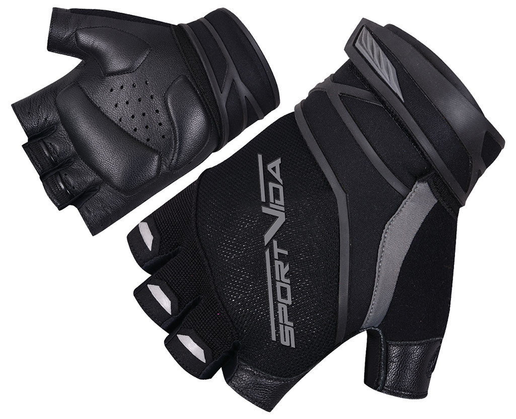 Перчатки для фитнеса SportVida SV-AG0002 (L) Black