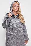 Куртка демисезонная женская Паутинка металлик, фото 3