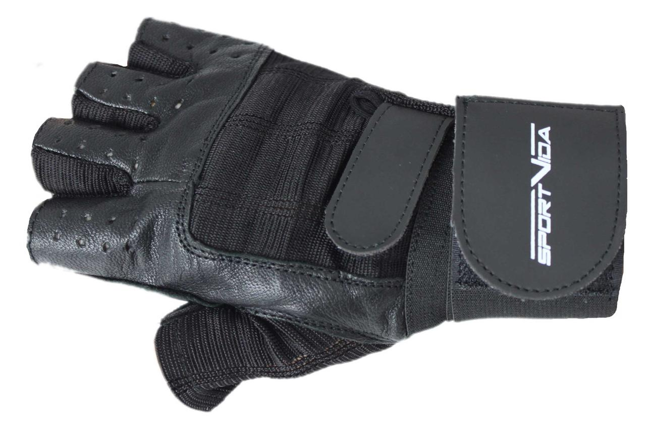 Перчатки для фитнеса SportVida SV-AG00046 (M) Black