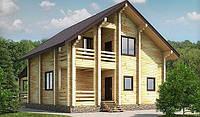 Дом деревянный из профилированного клееного бруса 9х12 м, фото 1