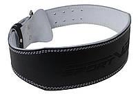 Пояс для тяжелой атлетики с экокожи SportVida SV-AG0078 (XL) Black, фото 1